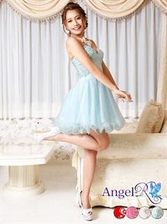 【P★10倍】[Angel R]サイドフラワービジューベアミニAラインドレス[AR5240][送料無料]