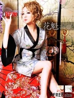 ◇dazzystore2017花魁◇和柄着物風リボン帯振袖タイトミニドレス