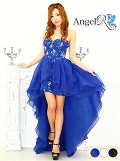 【P★10倍】[Angel R] フラワープリントシフォンベアショートインロングドレス[AR6217][送料無料]