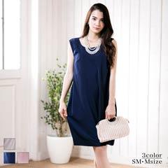 [SM/Mサイズ]シンプルゆるシルエットミディ丈ドレス[2サイズ展開]