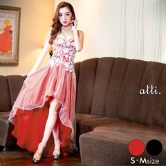 [SM/Mサイズ]刺繍レーステールカットロングドレス[2サイズ展開]