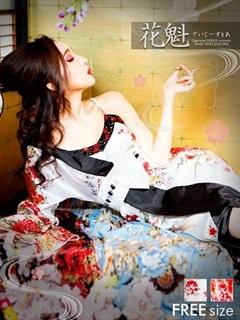 新作限定1000円OFF◇dazzystore2017◇リボン付きワンショルダー和柄着物風ロングドレス