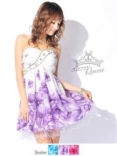 女子力UP★シフォンベアミニドレス