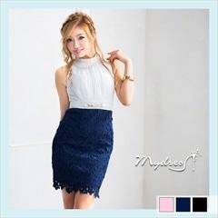 アメスリレースタイトミニドレス[my dress]