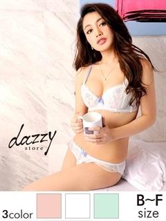 【Dolce Fiola】【大きいサイズ有】パステルカラー×ラメ入りflower刺繍ブラジャー&ショーツ/下着