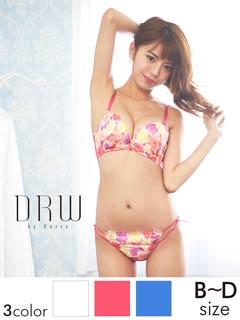 【Regalo】透けショーツ付バタフライflower刺繍ブラジャー&ショーツ/SEXY