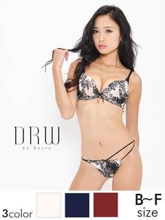 【duax amer】【大きいサイズ有】透けショーツ付ヴィクトリアン調ブラジャー&ショーツ/SEXY