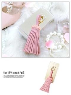 iPhone6/6sBIGフリンジ付きバックミラーケース