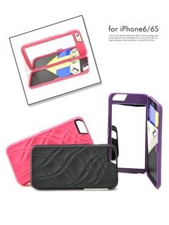 鏡付きICカード入れ付きiPhone6S/iPhone6対応ケース