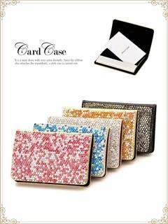 キラキラストーン敷き詰めカードケース