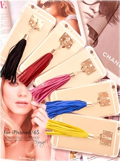 スエードフリンジタッセルクリアiPhone6ケース/6sケース