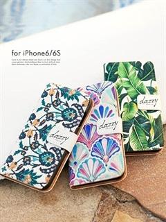iPhone6/6sロゴ入り手帳型ケース オリジナル柄[dazzy beach]