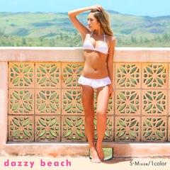 コットンレースレースビキニ/水着[dazzy beach][ノベルティプレゼント][送料無料]