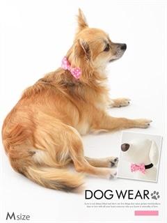 [犬用品]チェック柄プチリボン付き首輪