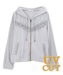 【OUTLET】UV透けレースパーカー