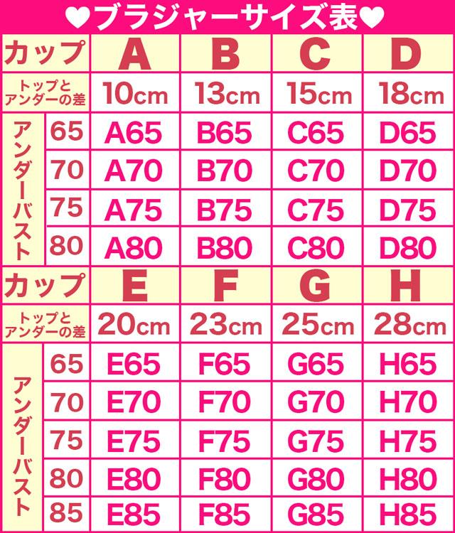 バスト サイズ 表