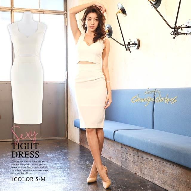 2/11UP[S/Mサイズ]waist cut dress [2サイズ展開][change clothes][送料無料]