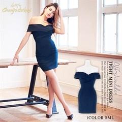 [SMLサイズ]ワンカラーオフショルタイトミニドレス[3サイズ展開][送料無料][change clothes]