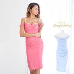 [S/Mサイズ]キャンディカラーシンプルタイトドレス[2サイズ展開][change clothes]