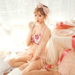 2/19新作!【明日花キララ着用/WhipBunny】Sweet Rose Motif Bra&Shorts / Pink スイートローズモチーフブラ&ショーツ