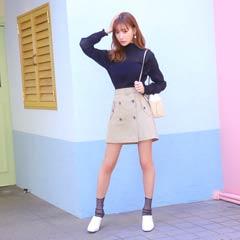 【明日花キララ着用】Trench Style Mini Skirt トレンチ風ミニスカート[Whip Bunny]