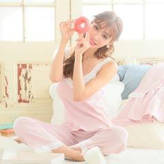 【明日花キララ着用】Rib Cotton Inner Nightwear Setup リブコットンインナーナイトウェアセットアップ[Whip Bunny]