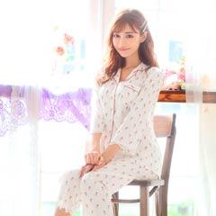 【明日花キララ着用】Petit Rose Satin Pajamas プチローズサテンパジャマ[Whip Bunny]