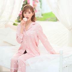 9/11新作!【明日花キララ着用/WhipBunny】Silky Heart Satin Pajamas シルキーハートサテンパジャマ