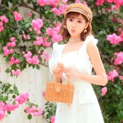 【明日花キララ着用】Square Basket bag スクエア型カゴバッグ[Whip Bunny]