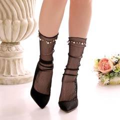 【明日花キララ着用】Bijou See-through socks ビジュー付きシースルーソックス[Whip Bunny]