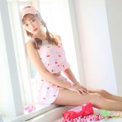 【明日花キララ着用】Cute Cherry Short Pants Setup/Pink キュートチェリーサテンショートパンツセットアップ/ピンク[Whip Bunny]