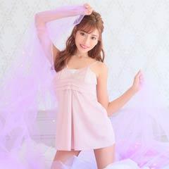 【明日花キララ着用】Sexy Satin Camisole One-piece/Pink セクシーサテンキャミソールワンピース/ピンク[Whip Bunny]