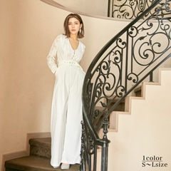 Long Sleeve Embroidery Lace Jumpsuit