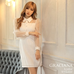 ダレノガレ明美着用【GRACIANA】See-through Long Sleeve Mini Onepiece