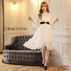 ダレノガレ明美着用【GRACIANA】Long Sleeve High neck Midi Onepiece