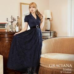 8/25UP ダレノガレ明美着用【GRACIANA】Bottom Lace Dress With Collar