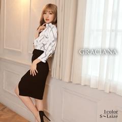 ダレノガレ明美着用【GRACIANA】Chain Design Wrap skirt Onepiece