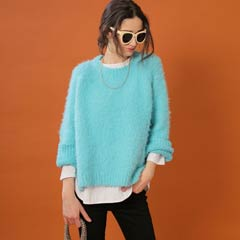 10/23UP【thorio port House】Boucle raglan knit