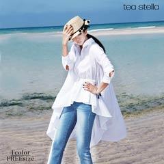 アシンメトリーロングシャツ[tea stella]
