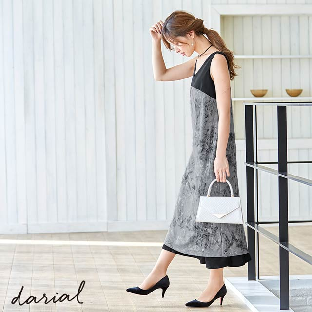 マーブルリバーシブルワンピースドレス[darial]