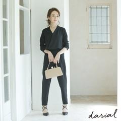 【星玲奈さんコラボドレス】シンプルジョーゼットパンツドレス[darial]