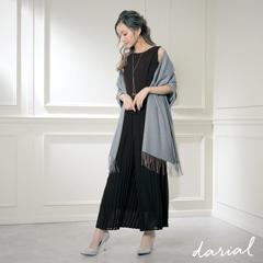 【星玲奈さんコラボドレス】トレンドライクプリーツオールインワンパンツドレス new