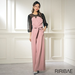 [darial]平子理沙プロデュース『RIRIBAE/リリベ』コルセット風デザインパンツドレス