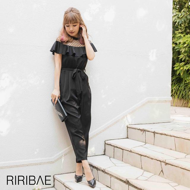 [darial]『RIRIBAE/リリベ』フリルデコルテオールインパンツドレス