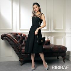 10/16UP[darial]平子理沙プロデュース『RIRIBAE/リリベ』星柄チュールレースビスチェ風デザインドレス