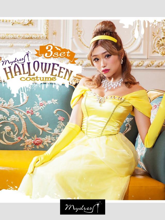 [コスプレ]Halloweenプリンセス オフショル【3点セット】