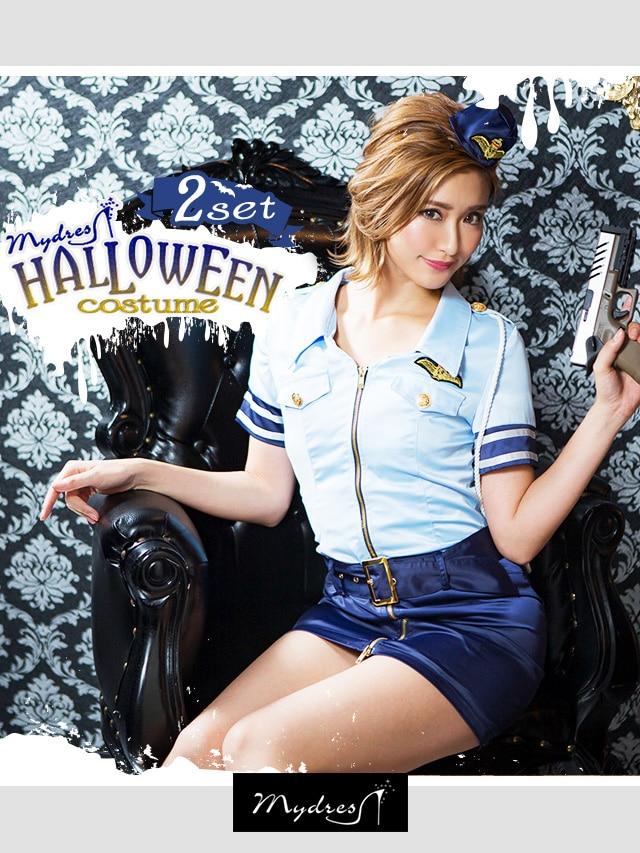 [コスプレ]Halloweenセクシーポリス【2点セット】
