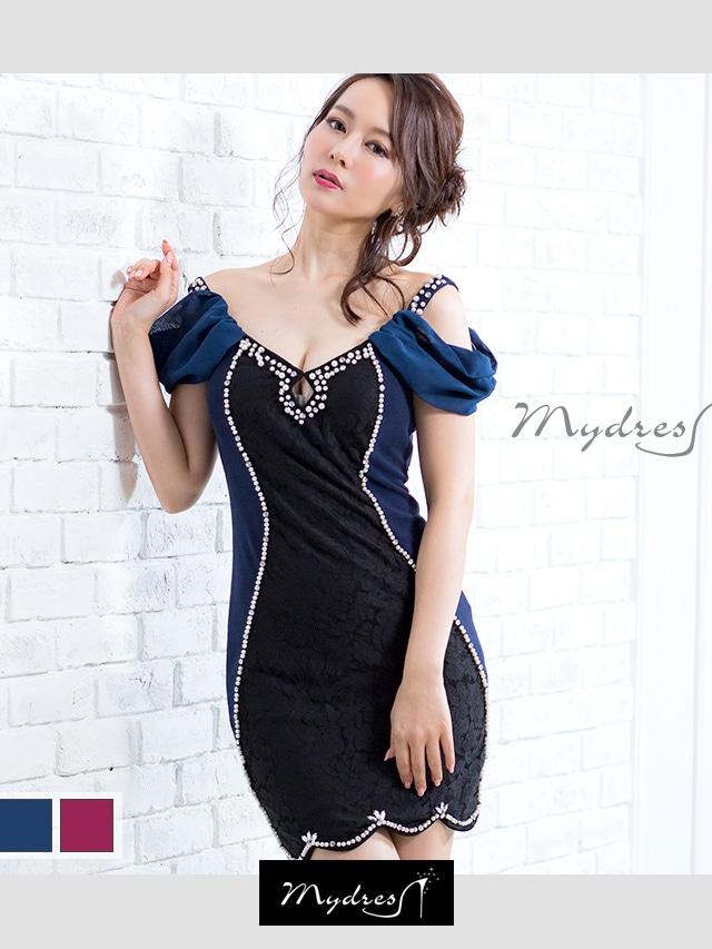 ショルダーカットタイトミニドレス[my dress]