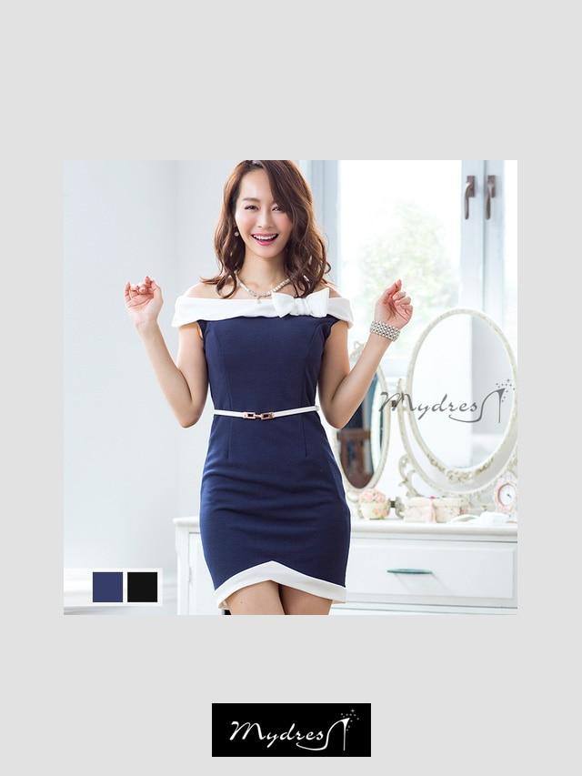 オフショルタイトミニドレス[my dress]