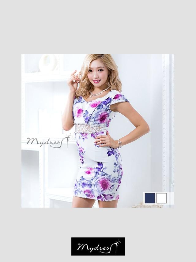 ショルダーデザインタイトミニドレス[my dress]